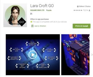 Free Game of the week – Lara Croft Go