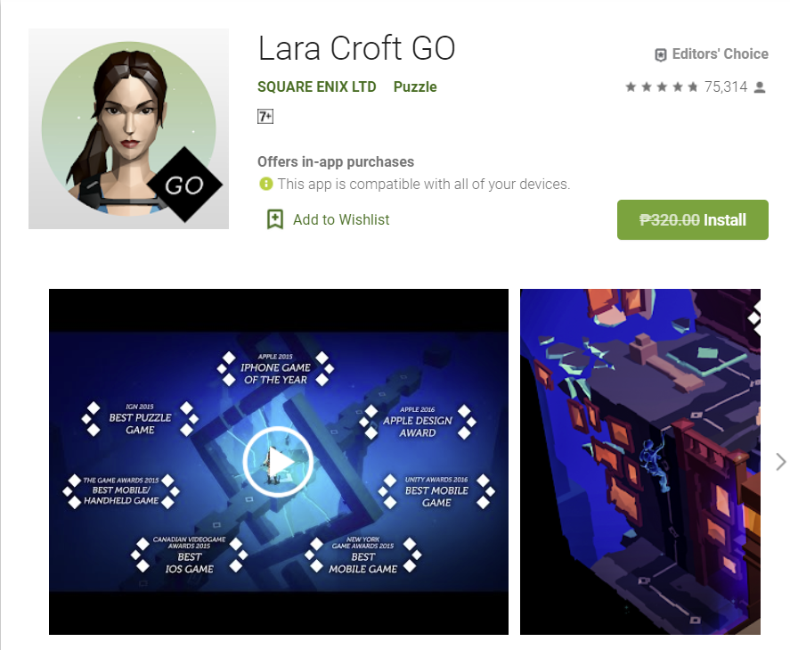 You are currently viewing Free Game of the week – Lara Croft Go