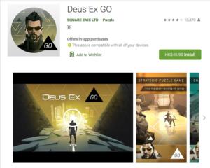 Free Game of the week – Deus Ex GO